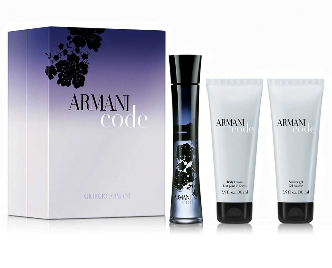 Armani Code by Giorgio Armani 3 Pc Gift Set for women