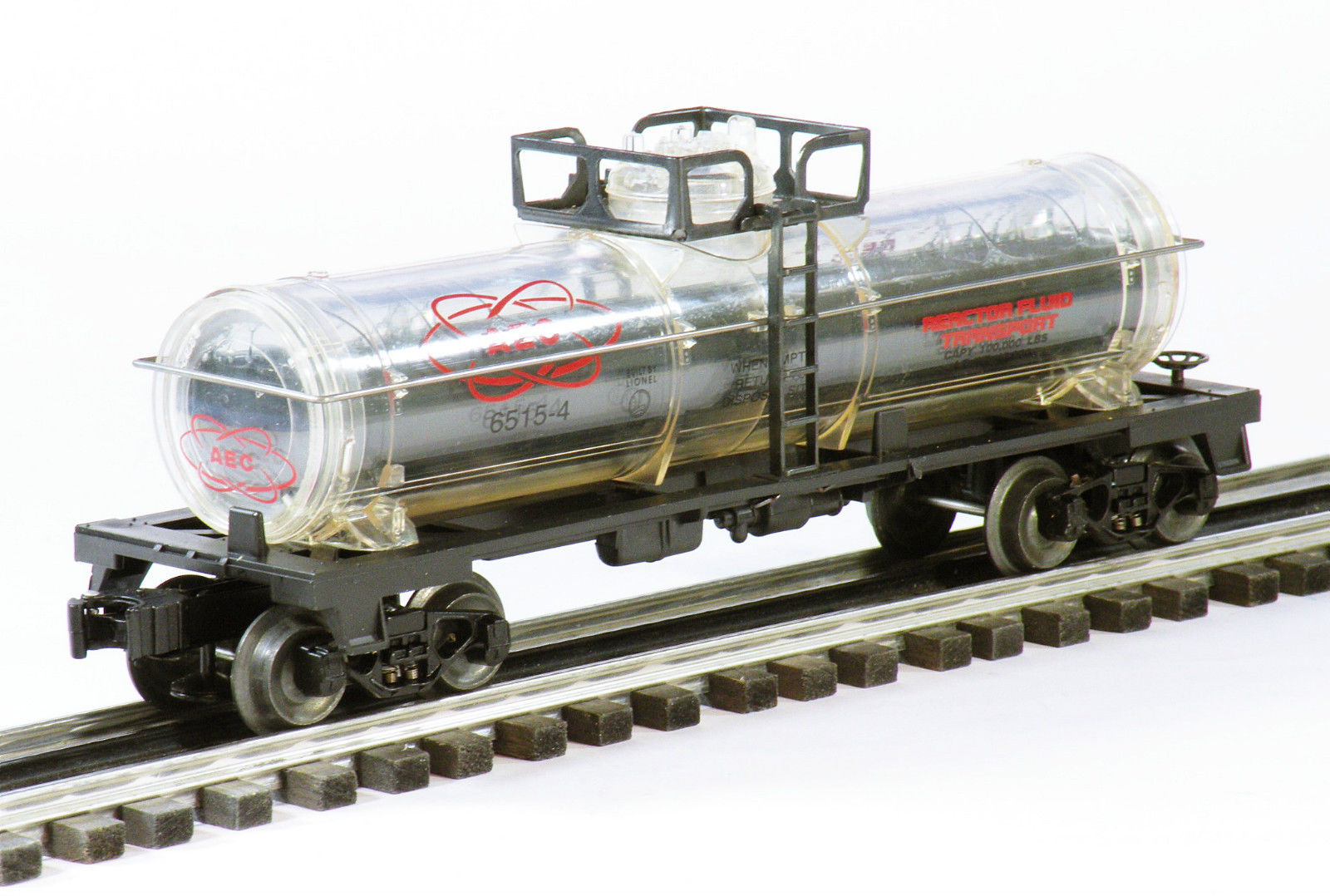 Lionel Trains 6-16160 AEC Reactor Fluid Tank Car