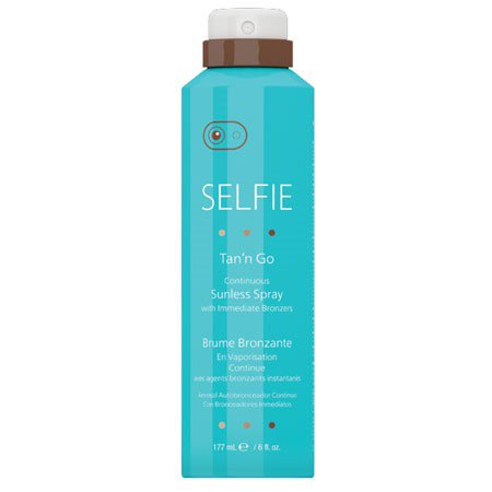 Selfie Tan 'N Go Continuous Sunless spray, 6 oz