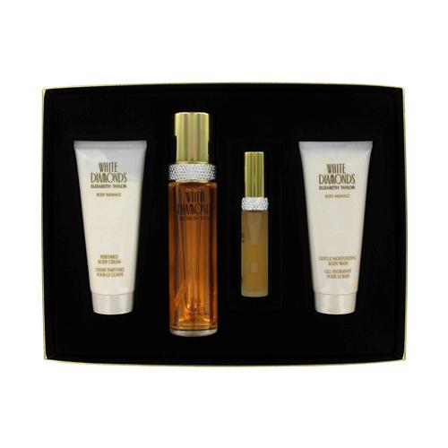 White Diamonds by Elizabeth Taylor 4 Pc Gift Set for Women