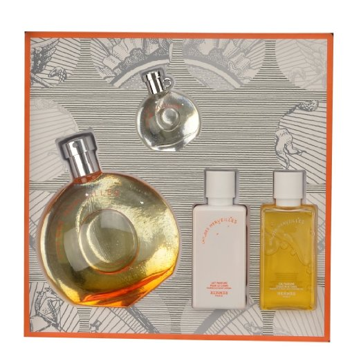 Eau Des Merveilles by Hermes 4 piece gift set for women