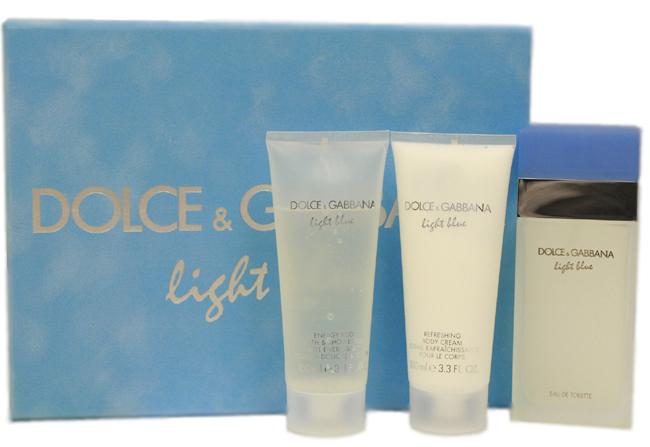 D & G Light Blue by Dolce & Gabbana 3 Pc Gift Set for Women, Om ...