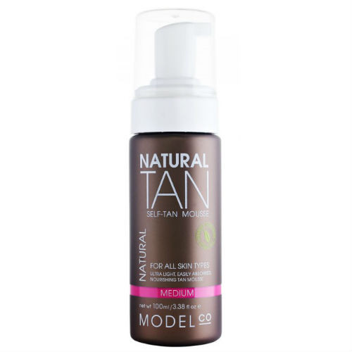 ModelCo Natural Tan Self-Tan Mousse, 3.38 oz / 100ml