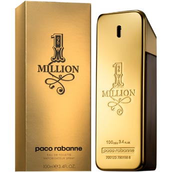 One 1 Million by Paco Rabanne 3.4 oz EDT for men
