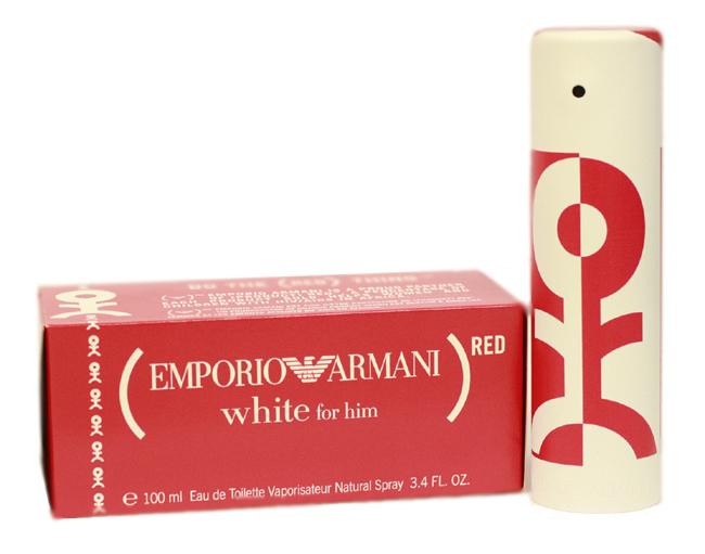 Emporio Armani White Red 1.7 oz EDT for men
