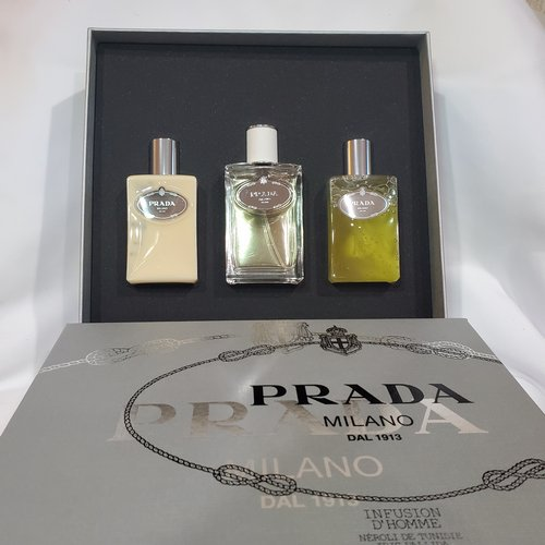 Prada Infusion D'Homme 3 piece gift set for men