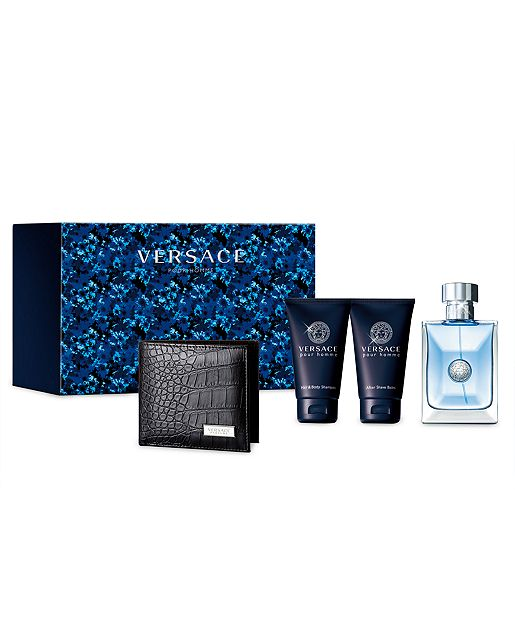 Versace Pour Homme by Versace 4 Pc Gift Set for men